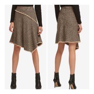 DKNY Asymmetrical Tweed Wool Skirt/Sz:4